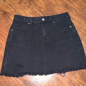 Pacsun Black Denim Skirt Distressed
